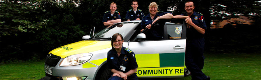Trent District CFR with the response car